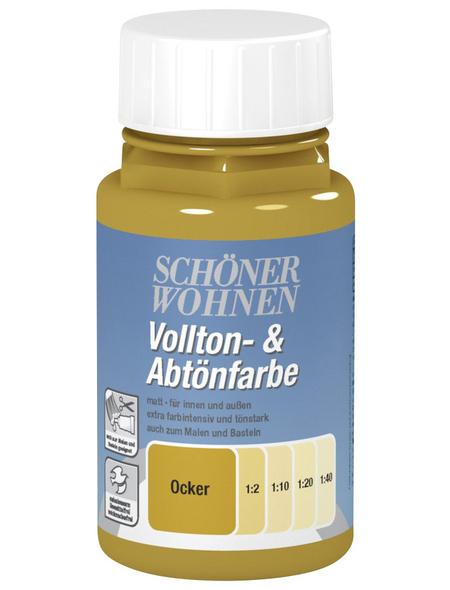 SCHÖNER WOHNEN FARBE Voll- und Abtönfarbe, ocker, 125 ml