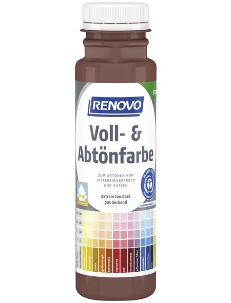 RENOVO Voll- und Abtönfarbe, schokobraun, 250 ml