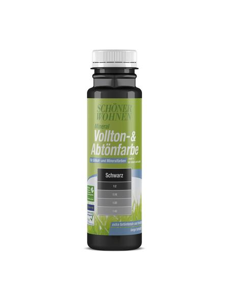 SCHÖNER WOHNEN FARBE Voll- und Abtönfarbe, schwarz, 250 ml