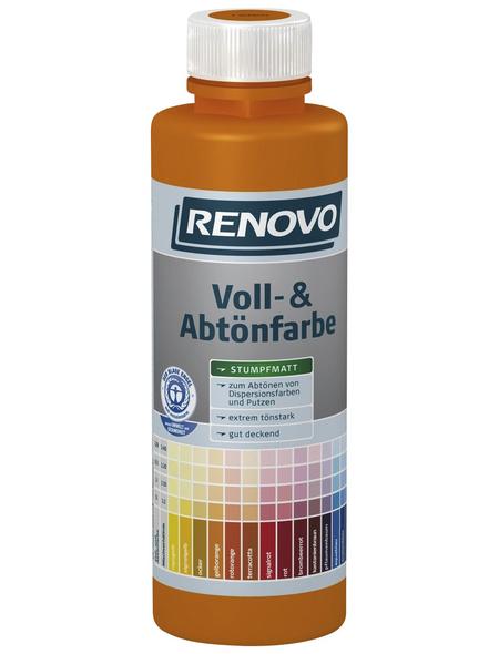 RENOVO Voll- und Abtönfarbe, schwarz, 500 ml
