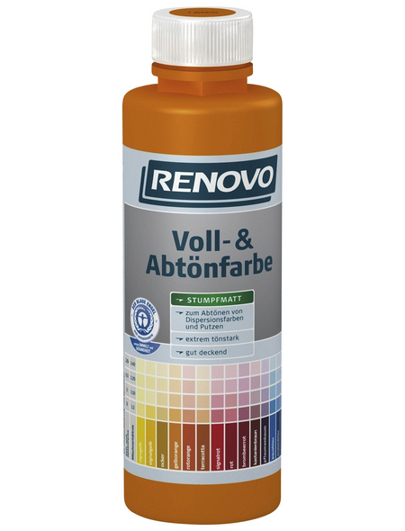 RENOVO Voll- und Abtönfarbe, signalrot, 500 ml