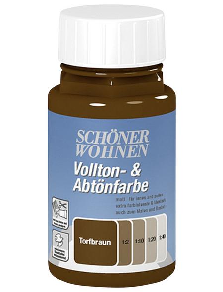 SCHÖNER WOHNEN FARBE Voll- und Abtönfarbe, torfbraun, 250 ml