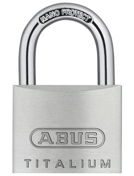 ABUS Vorhangschloss, aus Metall, 27 mm Breite, silberfarben