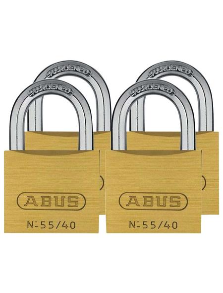 ABUS Vorhangschloss, aus Metall, 40 mm Breite, messingfarben