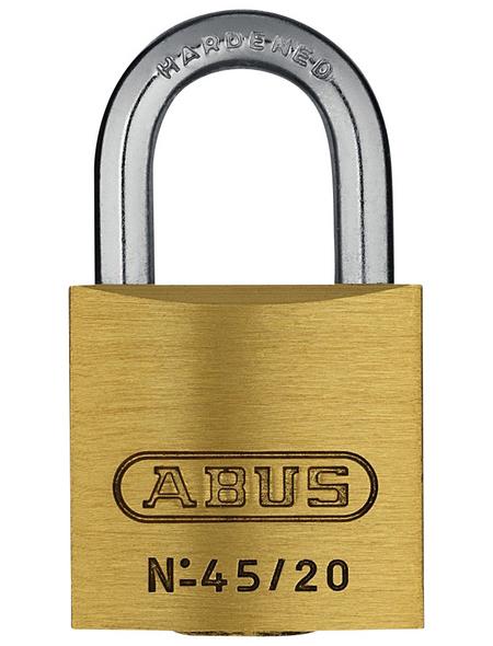 ABUS Vorhangschloss, aus Metall, 95 mm Breite, messingfarben