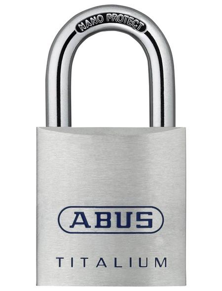 ABUS Vorhangschloss, aus Metall, 95 mm Breite, silberfarben
