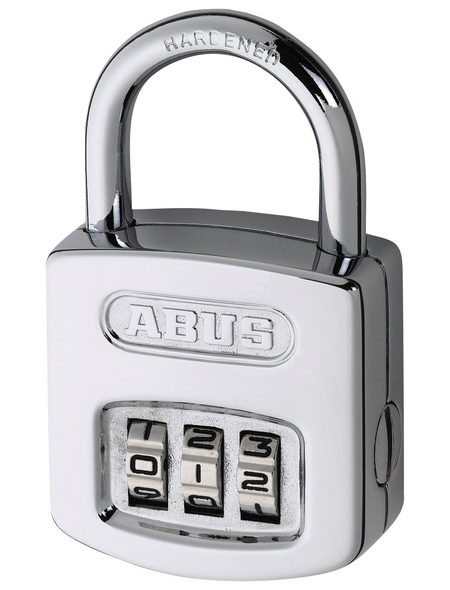 ABUS Vorhangschloss, aus Metall, 96 mm Breite, silberfarben