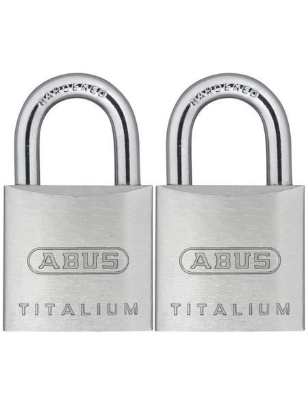 ABUS Vorhangschloss »Titalium«, aus Metall, 96 mm Breite, silberfarben