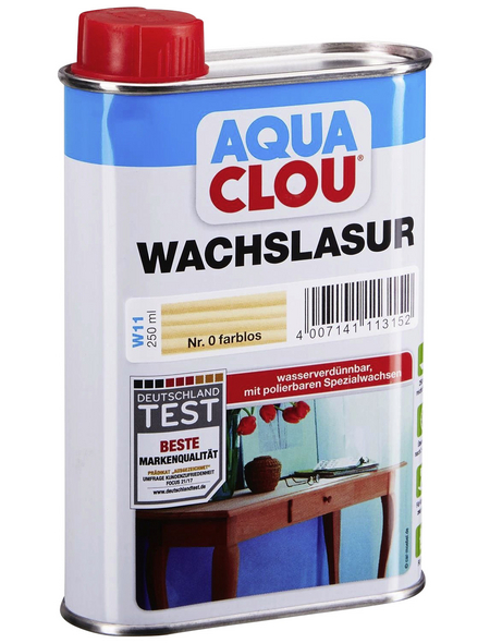 CLOU Wachslasur »AQUA«, 0,25 l, transparent