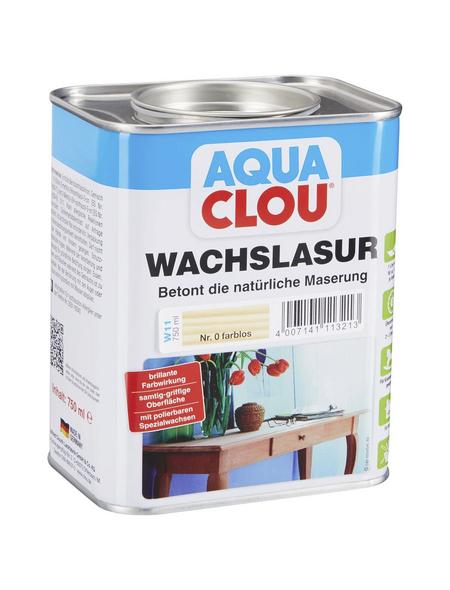 CLOU Wachslasur »AQUA«, 0,75 l, transparent