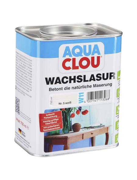 CLOU Wachslasur »AQUA«, 0,75 l, weiß