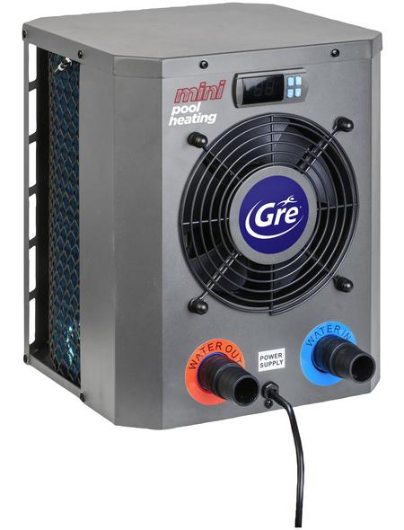 GRE Wärmepumpe, max. Heizleistung: 2500 W, für Pools bis: 20 m³