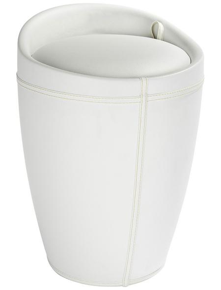 WENKO Wäschehocker, BxHxL: 36 x 50,5 x 36 cm, Kunststoff (ABS)