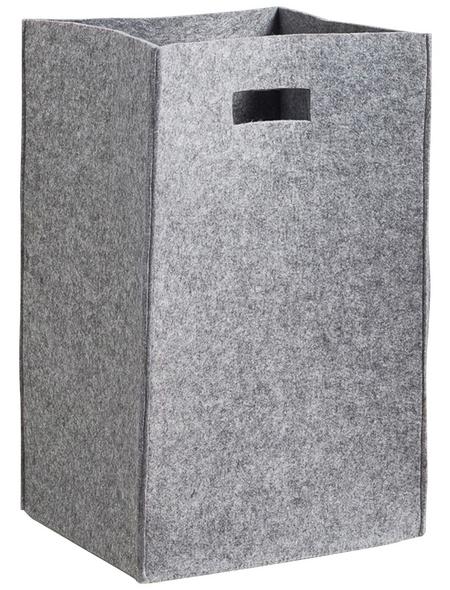 ZELLER Wäschesammler, BxHxL: 30 x 55 x 35 cm, Naturmaterial