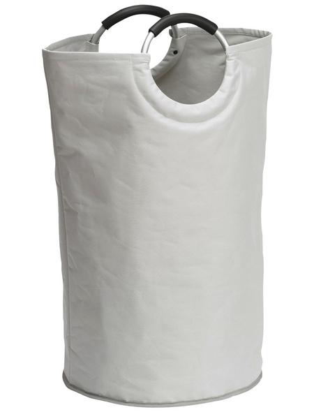 WENKO Wäschesammler »Jumbo Stone«, BxHxL: 38 x 72 x 38 cm, Polyester/Aluminium