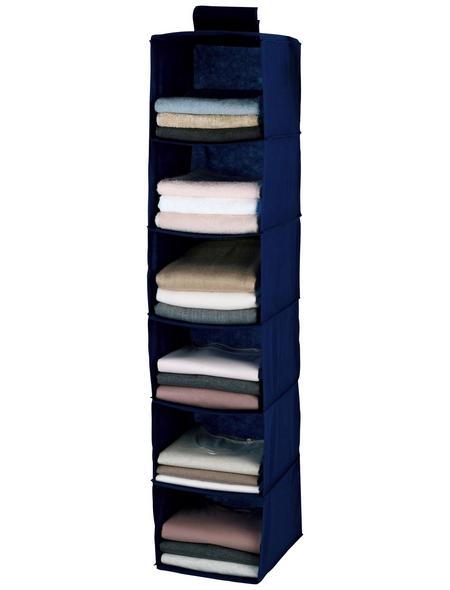 WENKO Wäschesortierer »Air«, BxHxT: 3 x 120 x 30 cm, Polypropylen (PP), dunkelblau