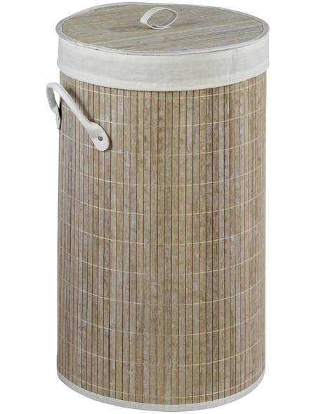 WENKO Wäschetruhe, BxHxL: 35 x 60 x 35 cm, Bambus