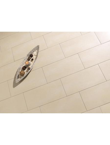 Wand- und Bodenfliese »Bari«, beige, matt, Presskante