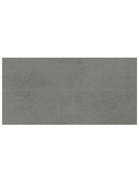 Wand- und Bodenfliese »Fog«, graphitfarben, matt, Presskante