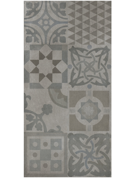 Wand- und Bodenfliese, grau, matt, Presskante