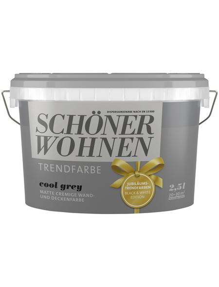 SCHÖNER WOHNEN FARBE Wand- und Deckenfarbe »Trendfarbe, cool grey«, matt