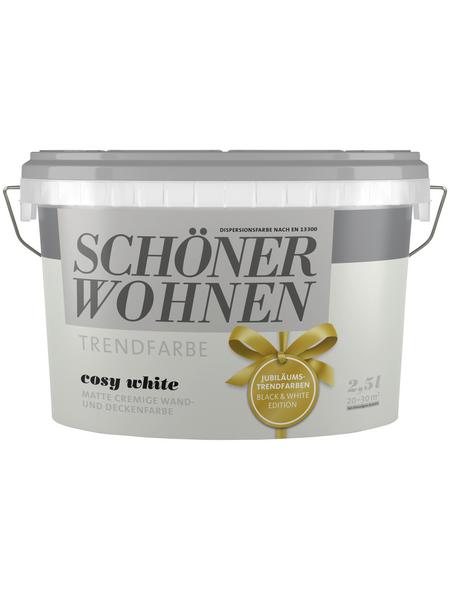 SCHÖNER WOHNEN Wand- und Deckenfarbe »Trendfarbe, Cosy White«, Cosy White, matt