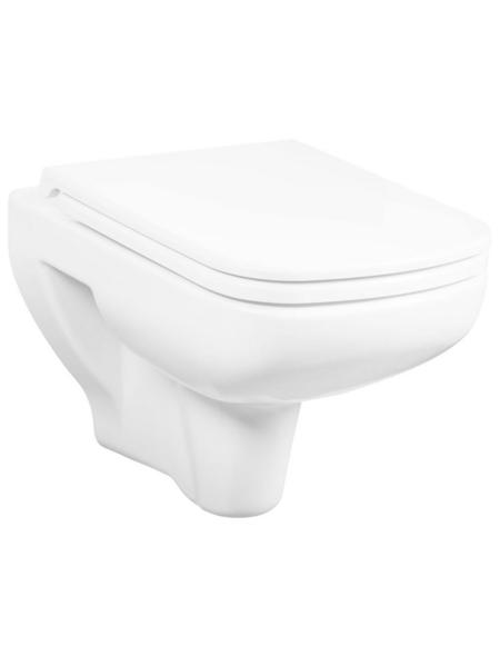 CORNAT Wand WC »ADRIA«, Tiefspüler, weiß, spülrandlos