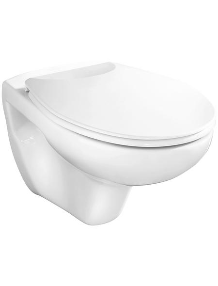 CORNAT Wand WC »Alpha«, Tiefspüler, weiß, mit Spülrand