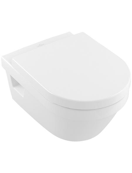 VILLEROY & BOCH Wand WC »Architectura«, Tiefspüler, alpinweiß, Spülrandlos