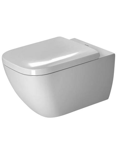 DURAVIT Wand WC »Happy D.2«, Tiefspüler, weiß, mit Spülrand