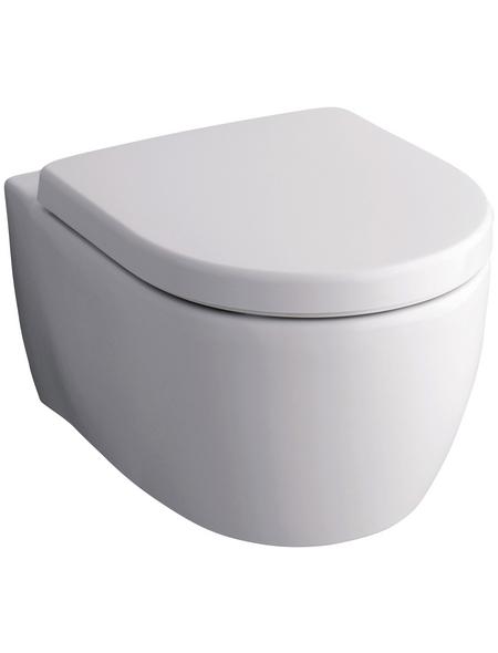 GEBERIT Wand WC »iCon«, Tiefspüler, weiß, mit Spülrand