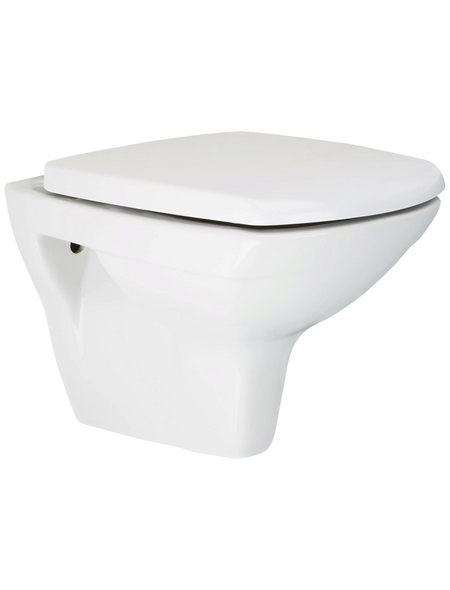aquaSu® Wand WC »IGENO eckig Wand-WC mit Sitz«