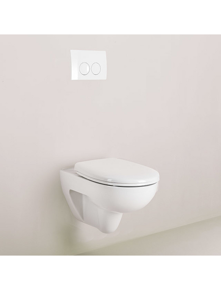 KERAMAG Wand WC, inkl. WC-Sitz, Befestigungsmaterial, Unterputzspülkasten, Betätigungsplatte