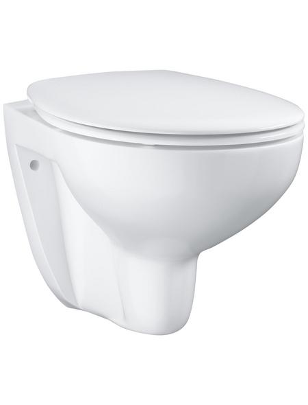GROHE Wand-WC-Komplettset »Bau Keramik«, Tiefspüler, alpinweiß, spülrandlos
