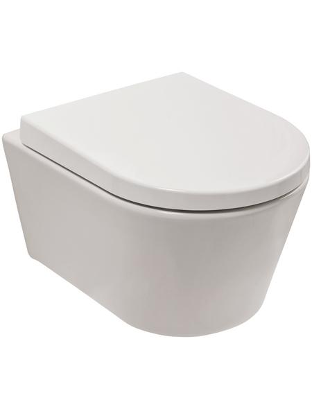 aquaSu® Wand-WC-Komplettset »citY«, Tiefspüler, weiß, mit Spülrand