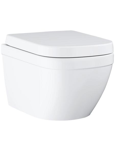 GROHE Wand-WC-Komplettset »Euro Keramik«, Tiefspüler, alpinweiß, spülrandlos