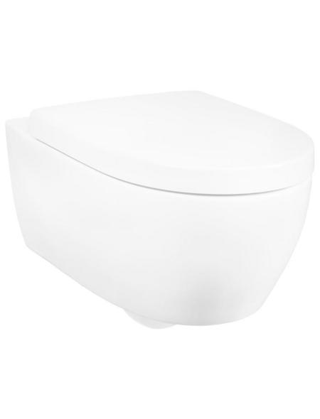 GEBERIT Wand-WC-Komplettset »ICON«, Tiefspüler, weiß, Spülrandlos