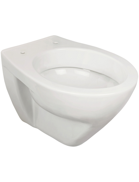 SANITOP-WINGENROTH Wand-WC-Komplettset »Lapino«, Tiefspüler, reinweiß, mit Spülrand