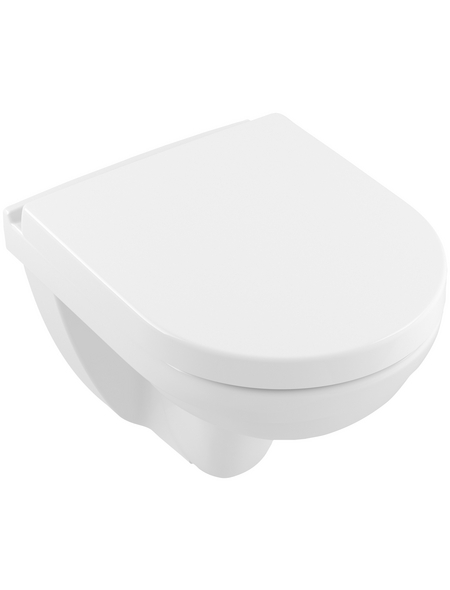 VILLEROY & BOCH Wand-WC-Komplettset »O.NOVO«, Tiefspüler, alpinweiß, mit Spülrand