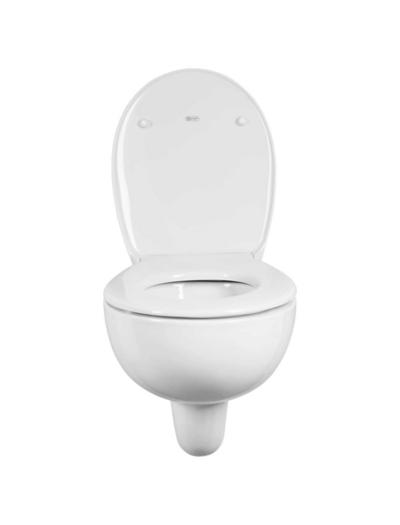 GEBERIT Wand-WC-Komplettset »Renova«, Tiefspüler, weiß, Spülrandlos