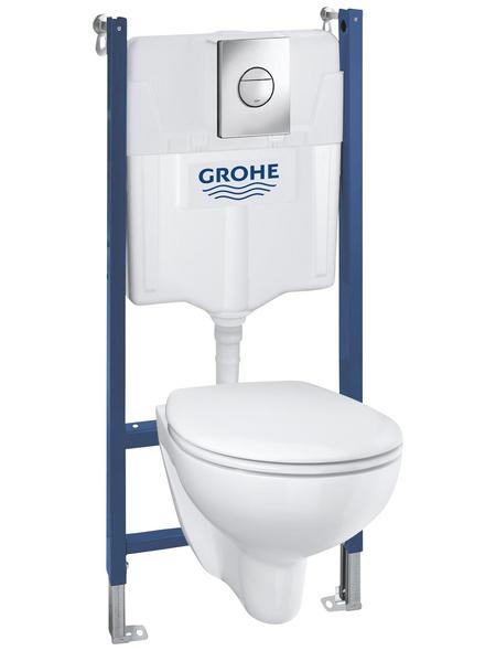 GROHE Wand-WC-Komplettset »Solido Compact«, Tiefspüler, alpinweiß, spülrandlos