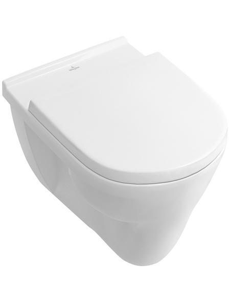 VILLEROY & BOCH Wand WC »O.NOVO«, Flachspüler, alpinweiß, mit Spülrand