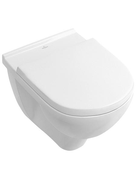 VILLEROY & BOCH Wand WC »O.NOVO«, Tiefspüler, alpinweiß, Spülrandlos