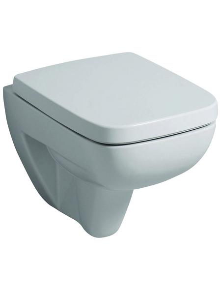 GEBERIT Wand WC »Renova Compact«, Tiefspüler, weiß, mit Spülrand