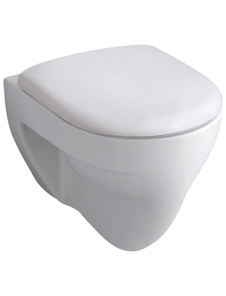 GEBERIT Wand WC »Renova Nr. 1«, Flachspüler, weiß, mit Spülrand