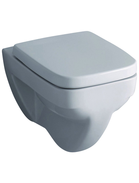 GEBERIT Wand WC »Renova Nr. 1 Plan«, Flachspüler, weiß, mit Spülrand