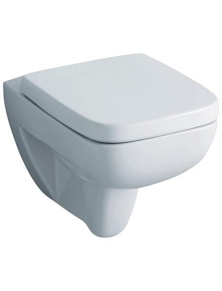GEBERIT Wand WC »Renova Nr. 1 Plan«, Tiefspüler, weiß, spülrandlos