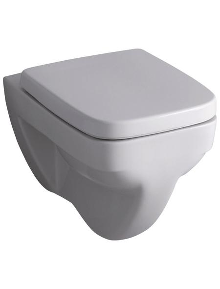 GEBERIT Wand WC »Renova Plan«, Flachspüler, weiß, mit Spülrand