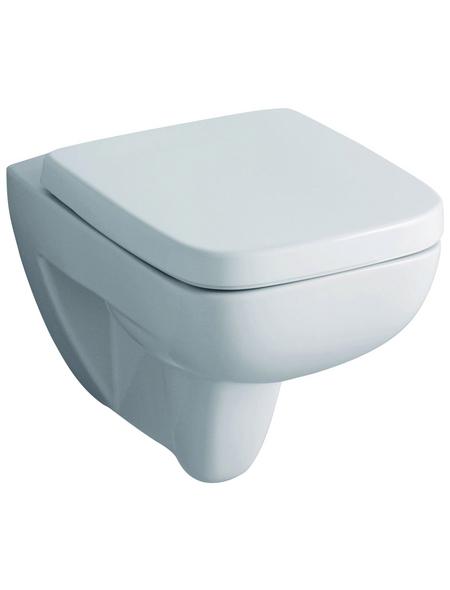 GEBERIT Wand WC »Renova Plan«, Tiefspüler, weiß, Spülrandlos