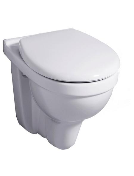 GEBERIT Wand WC »Renova«, Tiefspüler, weiß, mit Spülrand